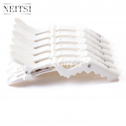 Neitsi® White Colour Plastic Salon Croc Clips Hair Styling Hair Clamps