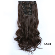 Lola Hair Dip-dye Colour Clip in Hair Extension 58cm Length Dark Brown Curly for Dreamlike Girls
