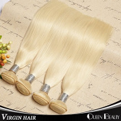 Queen Beauty Hair Brazilian Virgin Hair Straight 3 Bundles Human Blonde Brazilian Hair Weaves 7a Grade Colour 613 Blonde Virgin Hair Can Mixed Lenght