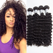 Brazilian Deep Wave Virgin Hair 100% Brazilian Human Hair Weave 4 Bundles Mix Lengths 7A Cheap Brazilian Curly Virgin Hair Brazilian Deep Wave