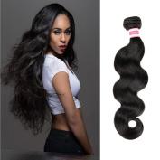 "Fabeauty Hair 7A Brazilian Virgin Hair Body Wave 4 Bundles Highest Quality 100% Unprocessed Human Hair Extensions Natural Black Silky Human Hair Same Length 4 Bundles 8""8""8""8"""