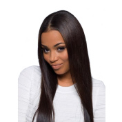 SUPERLOVE Brazilian Silky Straight 4 Bundles (12 14 16 18) Inches,Human Hair Weft,100g/Bundle,Natural Colour