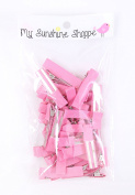 Partially LINED Double Prong Craft Alligator Clips - 25 Hair Clips - Pink