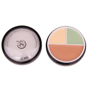 FantasyDay Pro 3 Colours Cream Concealer Camouflage Makeup Palette Contouring Kit #3 - Ideal for Professional and Daily Use