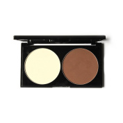 Meidus Professional Highlight Duo Contour Kit Bronzer & Highlight Powder 2 in 1