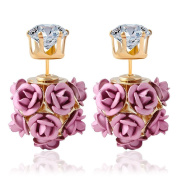 Women's Stud Earrings,Doinshop Fashion Flower Rose Eardrops Wedding Earbob Jewellery