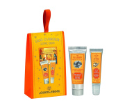 Bright Hand and Lip Duo Gift Set, with hand cream and lip balm that features soft and fresh orange blossom scent, made in France, great stocking stuffer
