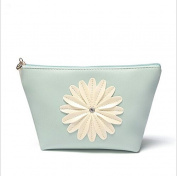 Bestrice Cosmetic Bag Sunflower Trapezoid Portable Handbag/Wrist Bag/Clutch Bag/Cell Phone Bag/ Ladies Purse - Light Green
