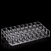 ieasysexy 36 lipsticks Lipstick frame Trapezoid Clear Lipstick Lotion Makeup Cosmetic Holder cosmetic storage box frame Makeup Kit lipstick rack Display Stand