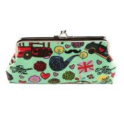 Micom Vintage Cute Cartoon Printing Canvas Kiss-lock Clutch Cosmetic Bags Coin Purse Wallet for Women,girls
