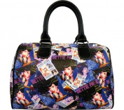 Bettie Page Signature Product Women's Collage Satchel Bag BPG1082