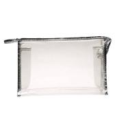 Sopear - Ladies PVC Clear Cosmetic Handbag / Waterproof Travel Makeup Bag for Cosmetic Organiser, Beige