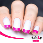 Whats Up Nails - French Tip Tape Nail Stencils Stickers Vinyls for Nail Art Design