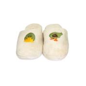 Bath Accessories Chenille Embroidered Spa Slippers, Duck