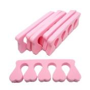 WAWO 6 pcs Pedicure Toe Seperator- pink colour