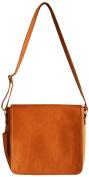 Oliver B Leather Nappy Bag, Black