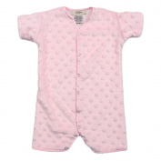 My Blankee Short Sleeve or Length Minky Dot Romper, Pink, 0-3 Months