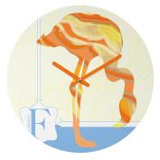 DENY Designs Jennifer Hill Mister Flamingo Round Clock, 30cm Round