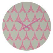 DENY Designs Bianca Green Oui Oui Round Clock, 30cm Round