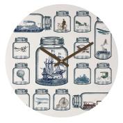 DENY Designs Belle13 Vintage Preservation Round Clock, 30cm Round