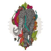 DENY Designs Valentina Ramos Ruby The Elephant Baroque Clock, Small