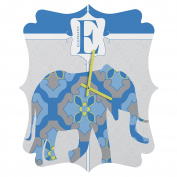 DENY Designs Jennifer Hill Mister Elephant Quatrefoil Clock, Small