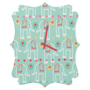 DENY Designs Ali Benyon Love Is Quatrefoil Clock, Small