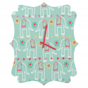 DENY Designs Ali Benyon Love Is Quatrefoil Clock, Small