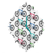 DENY Designs andi Bird Ride a Bike White Baroque Clock, Small