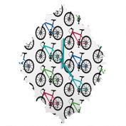 DENY Designs andi Bird Ride a Bike White Baroque Clock, Small