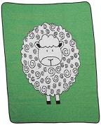 Green 3 Little Lamb Throw Blanket, Green