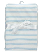 """Baby Dove """"Striped Velour"""" Blanket - blue, one size"""