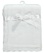 "Baby Dove ""Popcorn Knit"" Blanket - white, one size"
