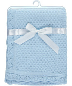 "Baby Dove ""Popcorn Knit"" Blanket - blue, one size"