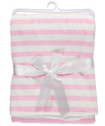 "Baby Dove ""Striped Velour"" Blanket - pink, one size"