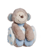 Cuddly Monkey Stuffed Animal Blanket Gift Set