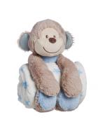 Cuddly Monkey Stuffed Animal Blanket Gift Set