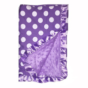 BayB Brand Blanket - Purple Polka Dot