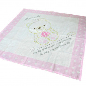 OYBY Bear Gauze Double Layer Cotton Swaddle blanket, Baby nursery-receiving Pink