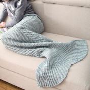Siyelinglan Soft Mermaid Tail Blanket Crochet and Mermaid Blanket for adult,kids, Super Soft Sleeping Blanket/Sleeping Bag 80x190 cm