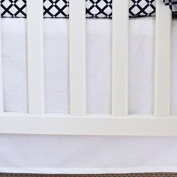 Super Soft, Versatile, Bright and Bold Owen & Ozzie White Crib Skirt