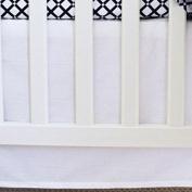 Super Soft, Versatile, Bright and Bold Owen & Ozzie White Crib Skirt