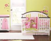 New Baby Girls Sweet Safari 8pcs Crib Bedding Set
