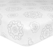 Just Born Ruffled Medallions Fitted Crib Sheet