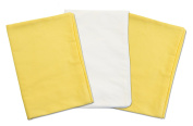 3 Toddler Pillowcases - 2 Yellow and 1 White - Envelope Style - 13x18 - 100% Cotton With Percale Weave - Machine Washable - ZadisonJaxx ZacharyPaul Collection - 3 Pack