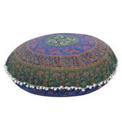 "Ikevan Large Mandala Floor Pillows Case Round Bohemian Meditation Cushion Cover Ottoman Pouffe Pillowcase (80x80cm"")"