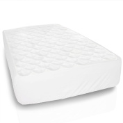 Equinox Baby Crib Mattress Protector - 70cm x 130cm - Waterproof Fitted Crib Mattress Pad Cover, White