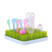 Baby Bottle Grass Drying Rack, Homure Excellent Drying Green Grass Baby Bottle Mat, BPA-Free, Perfect Drying Rack for Baby Bottles, Baby Dishes, Baby Bottle Nipples - Perfect Gift for Mom