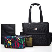Abonnylv Forma Pack & Go Nappy Tote Bag,Black