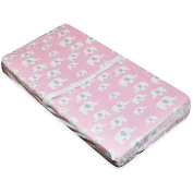 A.D. Sutton & Sons Elephant Changing Pad Cover in Pink